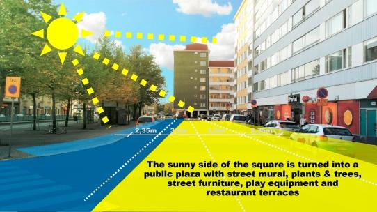 Fig3: Public plaza