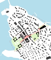 Public space axis from lake to lake