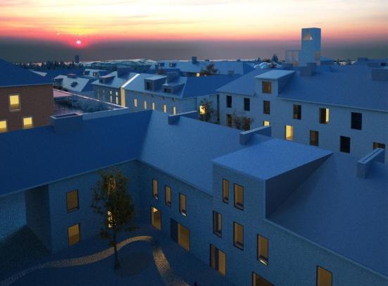 Rooftop landscape