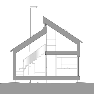 Cross section, living room