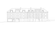 Typical housing facade
